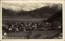 Zell am See 1928 Tauern Berge Gipfel Stempel Schmitten Höhebahn AK gelaufen