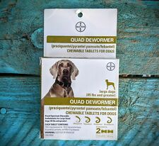 Bayer:  QUAD DEWORMER Large Dogs 45lbs + Broad Spectrum Chewable 2 Bone Tablets