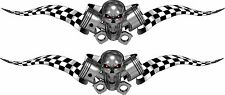 """Boat Car Truck Trailer Motorcycle Graphics Decal flag Stickers 2- 70"""" X 14"""""""