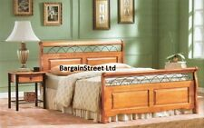 NEW SOLID PINE & METAL 5FT KINGSIZE SLEIGH STYLE BED FRAME