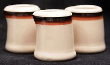 Set of 3 Vintage Shenango Inca Ware Individual Creamer Syrup Resturant Railroad