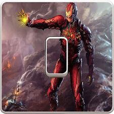 Marvel Iron Man Avengers Light Switch Vinyl Sticker Decal for Kids Bedroom #21