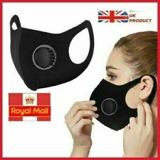 Black Face Mask with Filter Air Flow Face Mask Mouth & Nose Protection Trendy