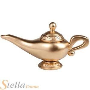 Gold Magic Lamp 23cm Arabian Genie Fancy Dress Costume Party Prop Accessory