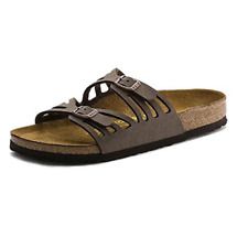 Birkenstock Granada Women's Mocha 39 Birkibuc Summer Adjustable Sandals US 8-8.5