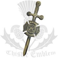 """Departamento de bomberos Kilt Pin Acabado Antiguo/Celta Kilt Pin/Fire Dept Kilt Pin 4"""""""