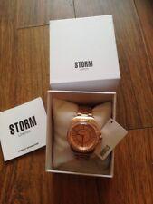 STORM Rose Gold Plated ZIRONA CRYSTAL Bracelet Strap Rose Pink Face WATCH New