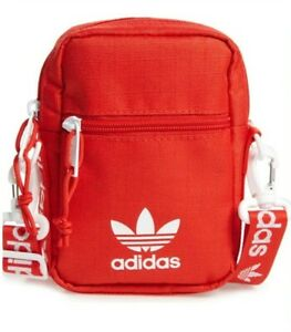 adidas Originals Unisex Festival Crossbody Bag, Red/White, One Size