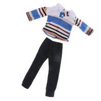 Dolls Clothes for Doll Striped Shirt Jeans Pants Tops Dress Up