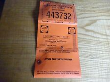 1966 New York Citizen  Resident Big Game Hunting Deer Back Tag 443732