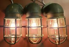 3- Russell Stoll R&S Co. 2766B Brass Explosion Proof Sconces Industrial Nautical