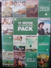 10 Movie Adventure Pack, Vol. 1 (DVD, 2011, 2-Disc Set) WORLD SHIP AVAIL!