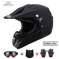 DOT Adult Helmet Dirt Bike ATV Motorcycle Full Face Goggle Gloves Mask SMLXL