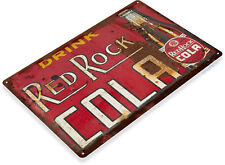 TIN SIGN Red Rock Cola Retro Rust Sign Kitchen Cottage Soda Bar A156