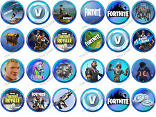 24 Fortnite Fortnight Edible Rice Paper Birthday Cupcake Cake Toppers
