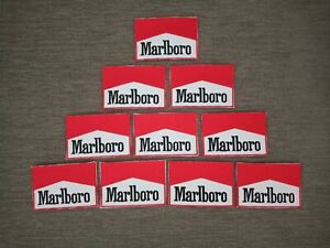 10 pcs Fashion Marlboro Red Color Logo Badge Sew Iron on Embroidered Patch