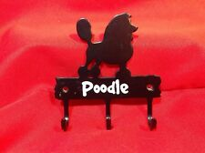 Steel Key/mitten Hanger 'POODLE' painted black with white lettering