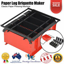 Paper Log Briquette Maker Steel Classic Paper Pressing Machine Fireplace Tool AU