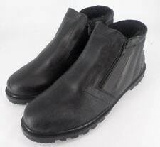Chums leather Twin Zip Black Fur Lined Boots UK 8 EU 42 JS084 EE 02