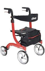 Drive Nitro Euro Rollator Walker - Red . Brand New In Box