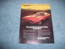 1971 Plymouth Road Runner 383 340 Vintage Color Ad