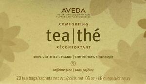 Aveda Comforting Herbal Tisane 20 Tea Bags SEALED .06 Oz Each 100% Organic Fresh