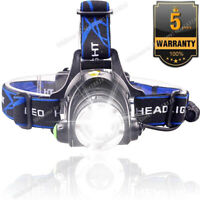 Rechargeable Tactical 350000LM T6 LED Headlamp 1865*0 Headlight Head Torch Lamp