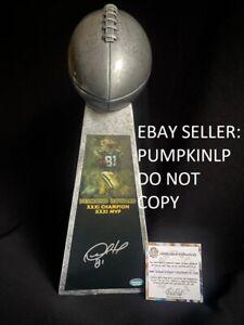 """PACKERS Desmond Howard #81 Signed 15"""" NFL Lombardi Trophy Replica Schwartz COA"""