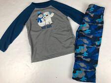 Gymboree Gymmies Snowman Yeti Abominable Best Buds Blue Camo Pajamas Nwt 2T