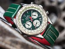 Reloj de Cuarzo DETOMASO Firenze para Hombres, Verde/Pantalla Cronógrafo Esfera De Color Beige (44)