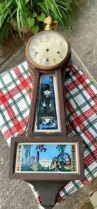 New Haven Winsome Banjo Project Clock 1/4 Hour Strike