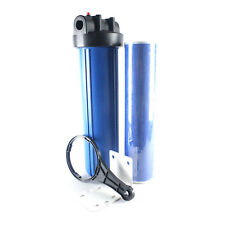 "20"" Big Blue Whole House GAC Carbon Water Filter Purifier w/ 4.5 x 20 Cartridge"