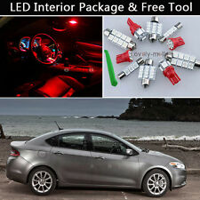 6PCS Blubs RED LED Interior Car Light Package kit Fit 2013-2016 Dodge Dart J1