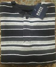 NWT Boys L/S Waffle Thermal Shirt Henley Sz 4 / 5 Black Gray Stripe Basic Ed.