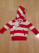 Ralph Lauren Girl's Pink Stripe Knit Hoodie Cardigan For 9 Months BNWT