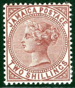 JAMAICA QV High Value SG.25 2s Venetian Red (1897) Superb Mint LMM c£32+ PBLUE19