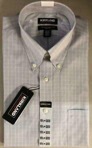 NEW Kirkland Men's Traditional Fit Non Iron Button Down Dress Shirt Variety #310
