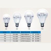 5/9/7W E27 85- 220V Sound Light Sensor Auto Motion Detection LED Light Lamp Bulb