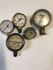 New listing Lot Of 5 Vintage Brady Union Carbide Vickers Gauge Gauges steampunk