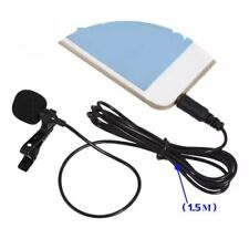 3.5mm Clip On Lapel Mini Microphone Hands Free Wired Condenser Lavalier Mic