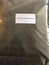 """NEW Restoration Hardware Velvet Rod Pocket Drape Panel Curtain FOG 100"""" x 120"""""""