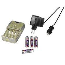 Hama viaje cargador rápido delta bravo + 4 batería AA 2500, champán 73412