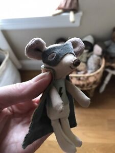 Maileg little super hero mouse defect boy kids girls blue cape came off sold out