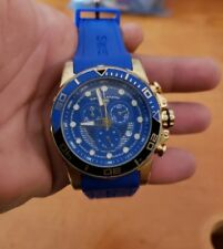 Huge SWISS Legend Avalanche Blue Face And Band Mens Swiss Watch Working