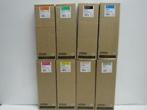 LOT OF 8! GENUINE EPSON T636A/T636B/T6361/T6362/T6363/T6364/T6366/T6367 INK
