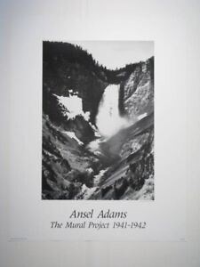 Ansel Adams YELLOWSTONE FALLS Poster