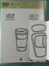 Stampin' Up! Perfect Blend Rubber Stamp set & Dies By Dave dies coffee card lot