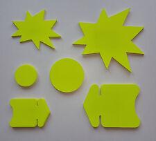 100 Pfeile Kreise Sterne Preisschild aus Karton Stanzteile Schaufenster deko