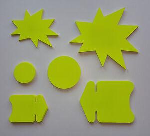 100 Pfeile Kreise Sterne Preisschild aus Karton Stanzteile Räumungsverkauf deko