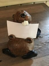 Singing Tree Chip Bearfoots Beaver Figurine by Jeff Fleming for Business Cards